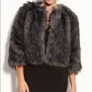 Michael Kors Faux Fur Cropped Jacket
